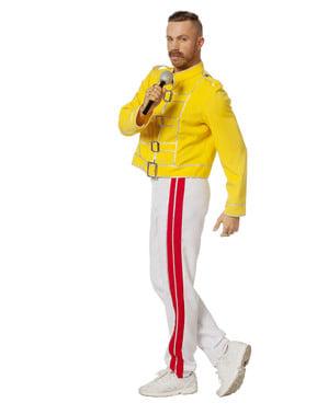 Pánský kostým Freddy Mercury žlutý
