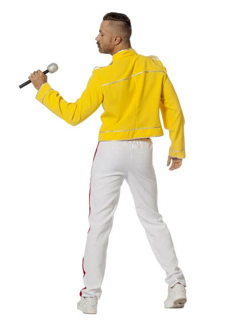 Disfraz de Freddie Mercury amarillo para hombre - original