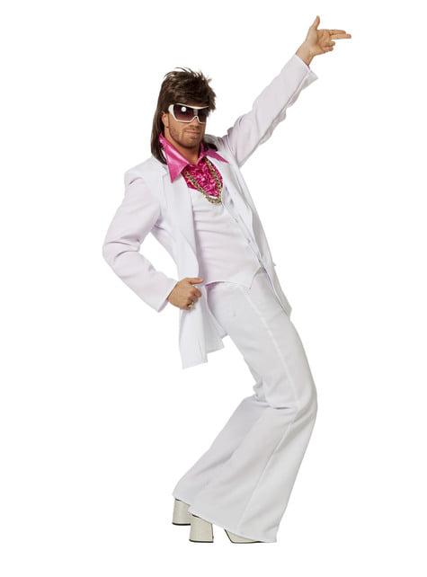 Disfraz de Fiebre de Sábado por la Noche blanco para hombre