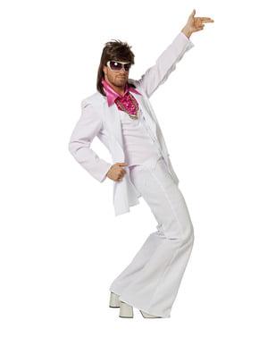 Wit Saturday Night Fever kostuum voor mannen