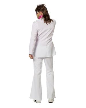 Бели нощни нощни костюми за мъже