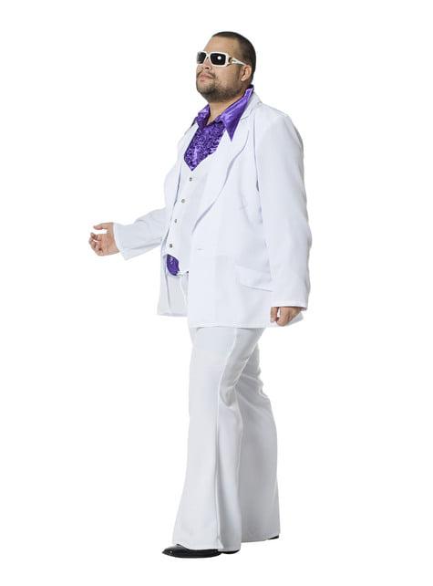 Hvidt Saturday Night Fever kostume til mænd