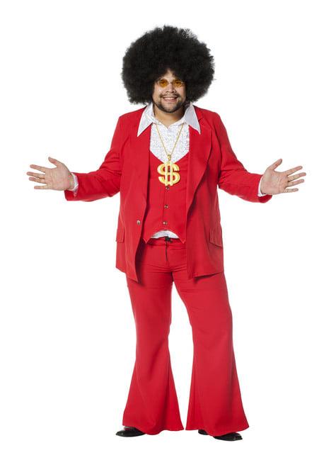 Disfraz de Fiebre de Sábado por la Noche rojo para hombre