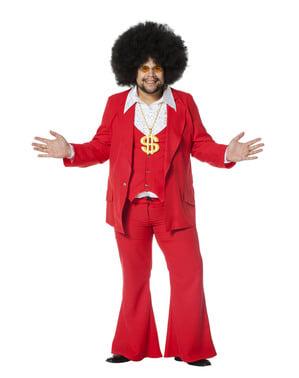Costum Febra de Sâmbată Noapte roșu pentru bărbat