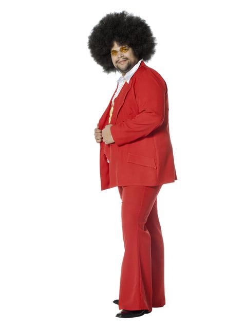Disfraz de Fiebre de Sábado por la Noche rojo años 70
