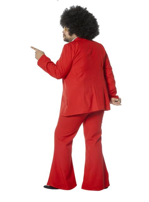 Rood Saturday Night Fever kostuum voor mannen