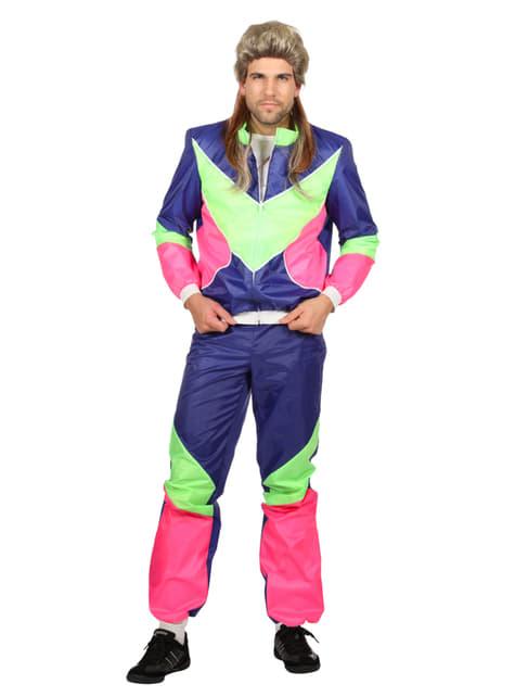 Blue 80's costume for men