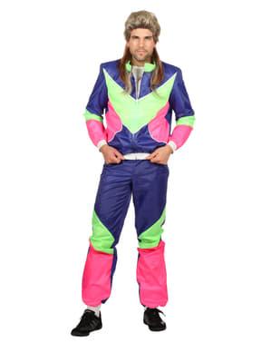 Син мъжки костюм в стил 80-те