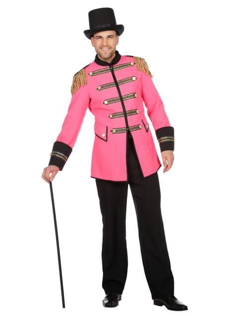 Fato de domador cor-de-rosa para homem