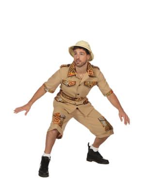 Beżowy kostium safari dla mężczyzn