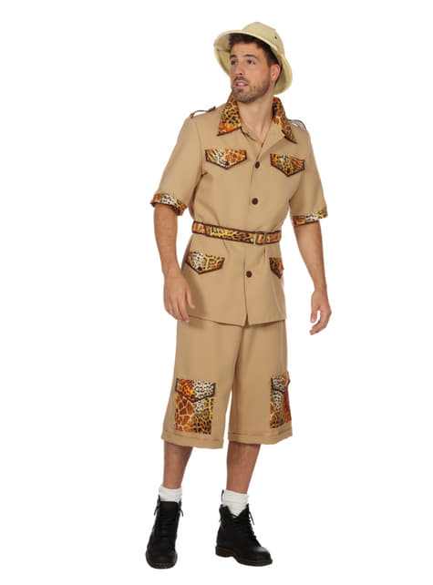 Disfraz de Safari beige para hombre