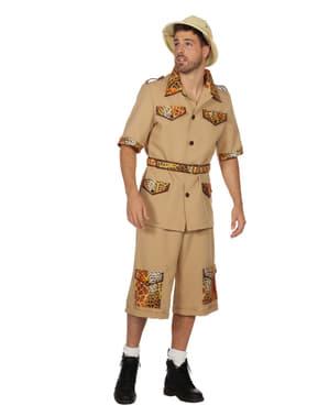 Beige safari kostuum voor mannen