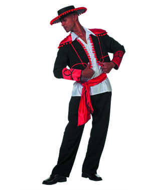 Чорний аргентинський лицарський костюм для чоловіків