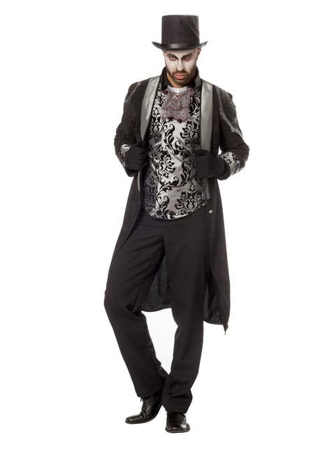 Disfraz de caballero gris para hombre