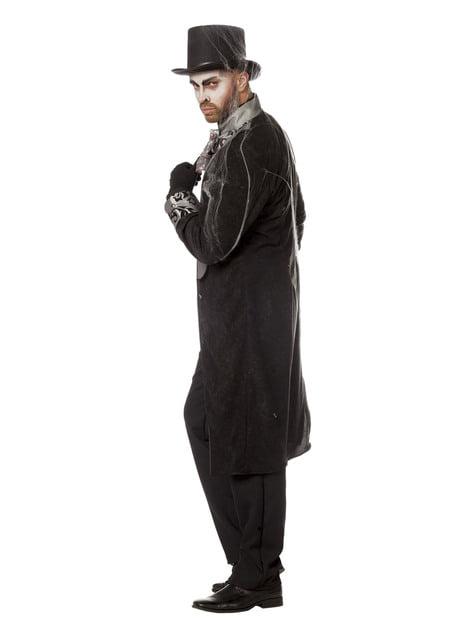 Fato de cavaleiro cinzento para homem