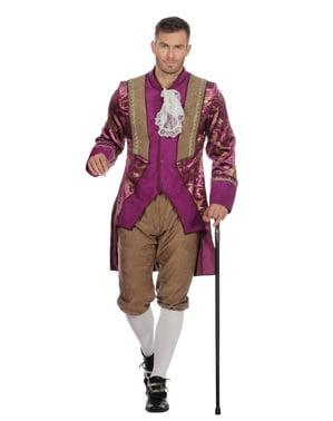 Disfraz de Marqués morado para hombre