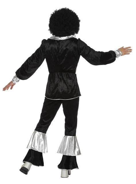 Disfraz de disco de los 70's negro para hombre