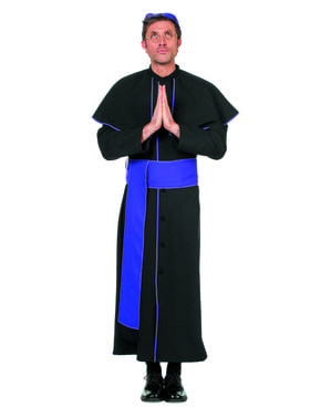 Zwart bisschop kostuum voor mannen