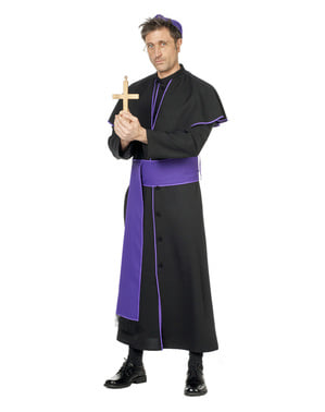 Costum de episcop negru pentru bărbat