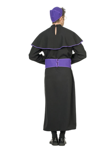 Czarny kostium biskupa dla mężczyzn