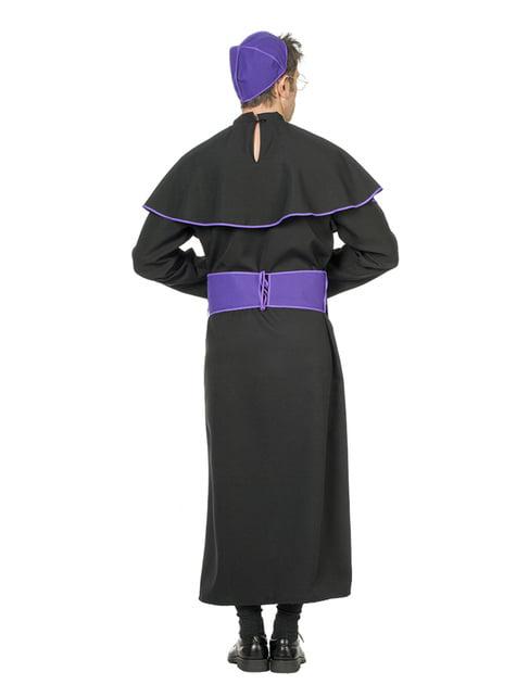 Disfraz de obispo negro para hombre - original