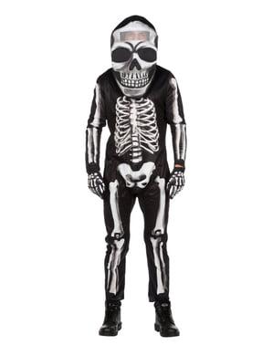 Maskeraddräkt skelett med stort huvud vuxen