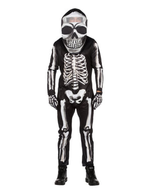 Skeleton with a big head costume for men