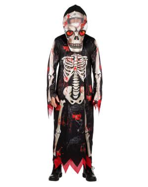 Disfraz de esqueleto segador para hombre