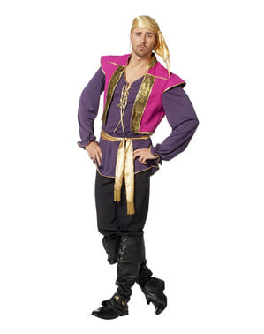 Purple gypsy costume for men