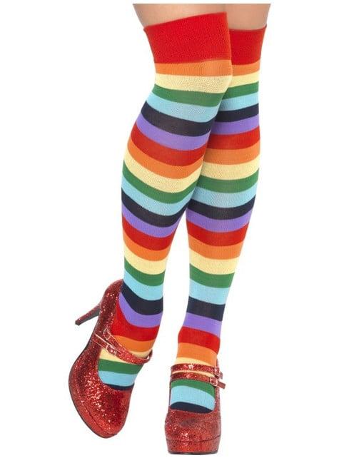 Pitkät moniväriset sukat