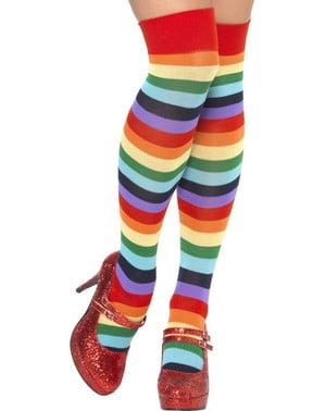 長い色とりどりの靴下