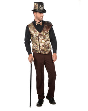 Gold Steampunk waistcoat for men