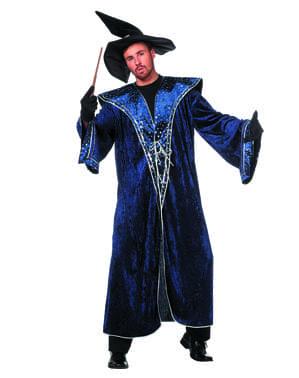 Niebieski Strój czarodzieja dla mężczyzn
