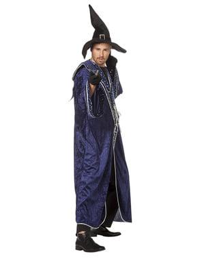 Costume da mago blu per uomo