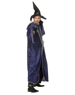 Déguisement magicien bleu homme