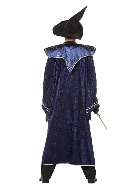 Disfraz de mago azul para hombre - original