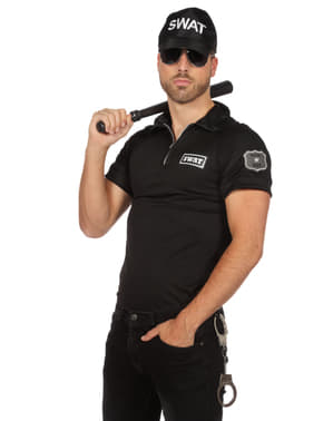 Black SWAT Agent T-Shirt for men