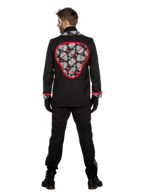 Disfraz de Día de los Muertos negro para hombre - hombre