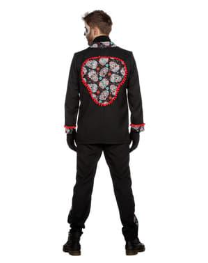 Disfraz de Día de los Muertos negro para hombre