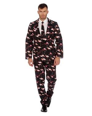 Costume Motif Flamant Rose