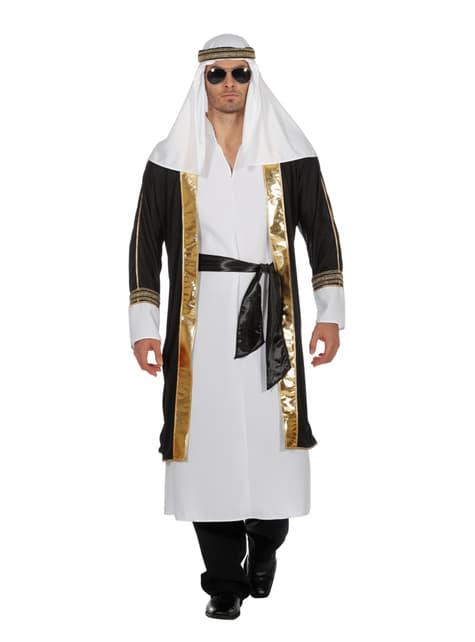 Biały kostium arabskiego szejka dla mężczyzn