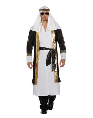 Hvit Araber Sjeik kostyme til menn