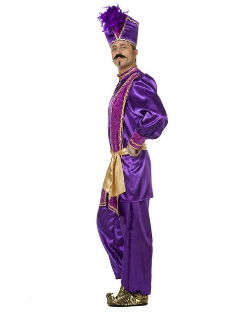 Fato de Sultão roxo para homem