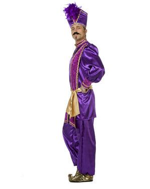 Déguisement Sultan violet homme