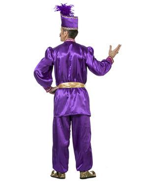 Paars Sultan kostuum voor mannen
