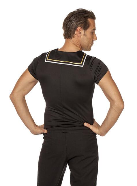T-shirt de marinheiro preta para homem