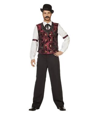 Maskeraddräkt western servitör vuxen