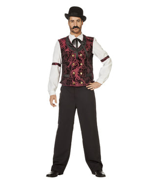 Western waiter costume for men