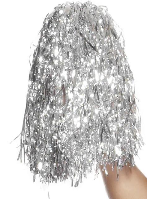 Pom-poms Silver metallic