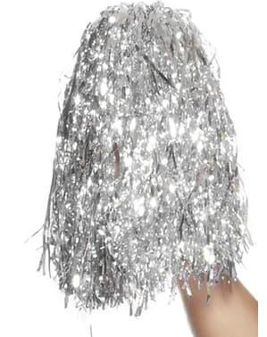 Pompons cheerleader argento